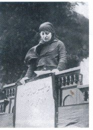 Nationalist activist and social advocate, Halide Edib, addressing the protest rally against the occupation of Smyrna in May 1919